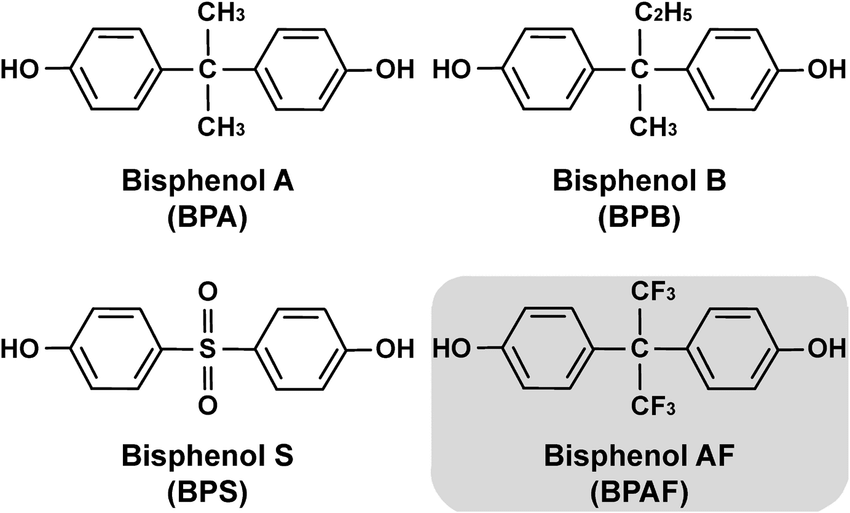 Chemical-Structures-of-4-Bisphenols-BPA-BPB-BPS-and-BPAF-Used-in-This-Study